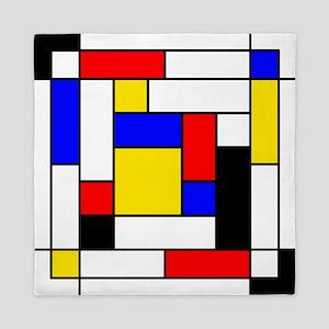 Mondrian Geometric Art 2 Queen Duvet