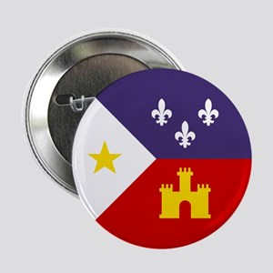 "Cajun Flag 2.25"" Button"