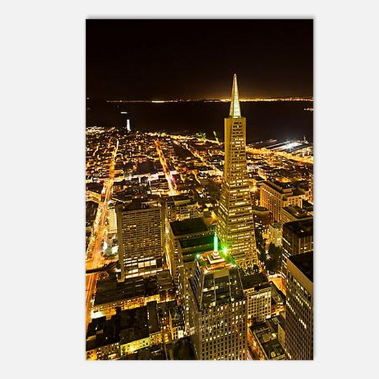 Transamerica Pyramid and Coit Postcards (Package o