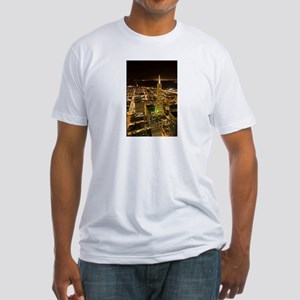 Transamerica Pyramid and Coit Fitted T-Shirt
