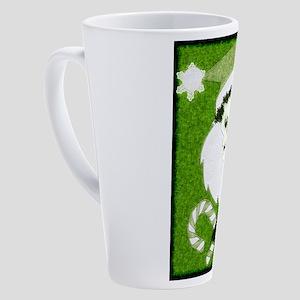Santa Skull 17 oz Latte Mug