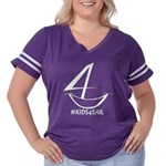 Kids4sail Women's Plus Size Football T-Shirt