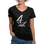 Kids4sail Women's V-Neck Dark T-Shirt