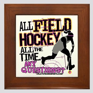 All Field Hockey Framed Tile