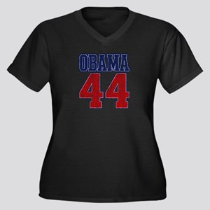 Obama 44th President (vintage Women's Plus Size V-
