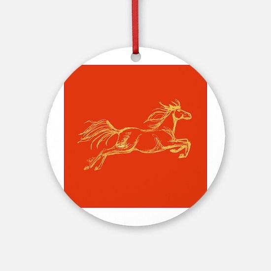 Equestrian Art Ornament (Round)