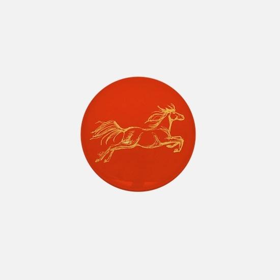 Equestrian Art Mini Button