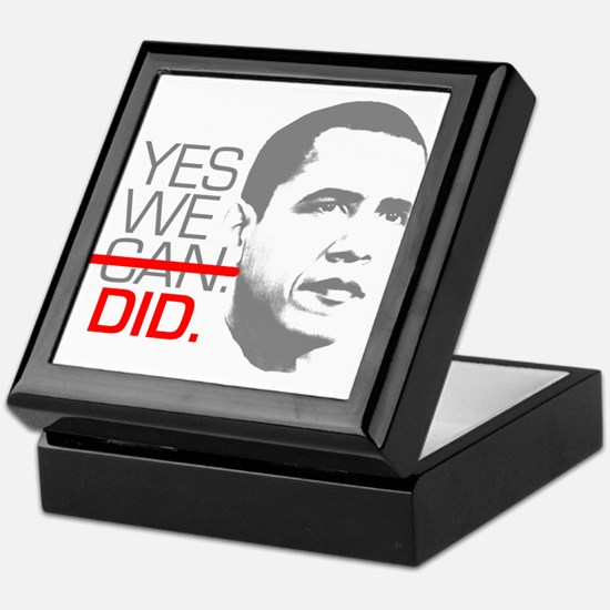 "Obama ""YES WE DID."" Keepsake Box"