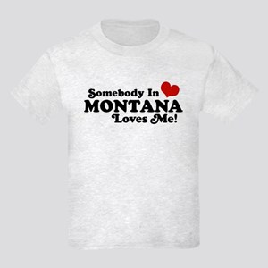 Somebody in Montana Loves Me Kids Light T-Shirt