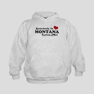 Somebody in Montana Loves Me Kids Hoodie