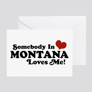 Somebody in Montana Loves Me Greeting Cards (Pk of