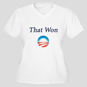 That Won: Women's Plus Size V-Neck T-Shirt