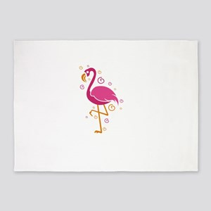 Flamingo Shirt Let's Flamingle 5'x7'Area Rug