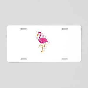 Flamingo Shirt Let's Fl Aluminum License Plate