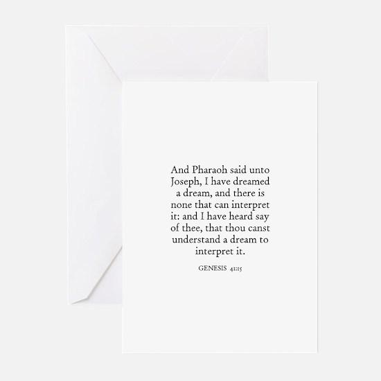 GENESIS  41:15 Greeting Cards (Pk of 10)