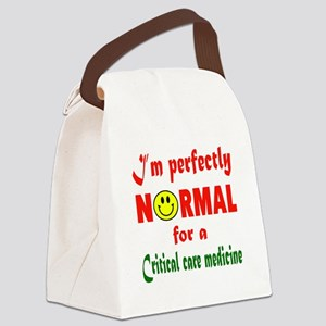 I'm perfectly normal for a Critic Canvas Lunch Bag