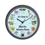 Invasive Plants Wall Clock