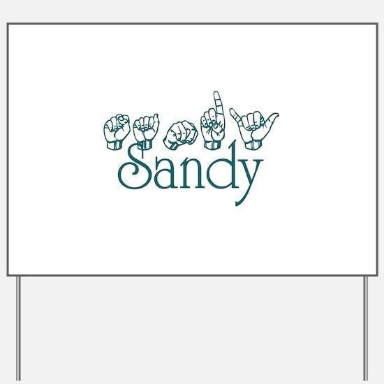 Sandy Yard Sign