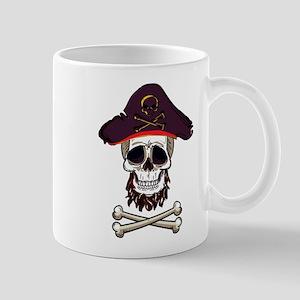 Pirate Skull Design Birthday Party Crossbones Mugs