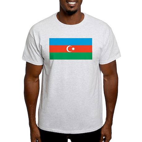 Azerbaijan Flag Ash Grey T-Shirt