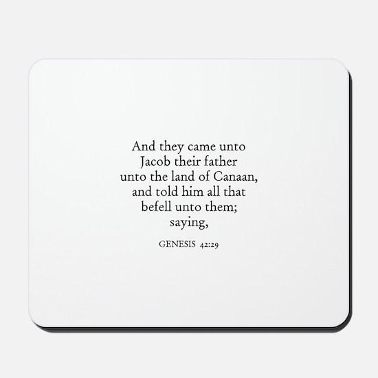 GENESIS  42:29 Mousepad