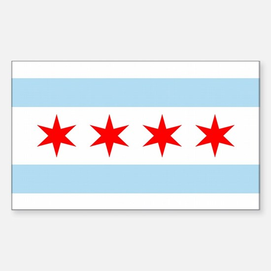 Chicago City Flag Rectangle Decal