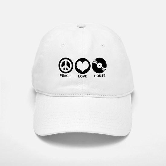 Peace Love House Baseball Baseball Cap