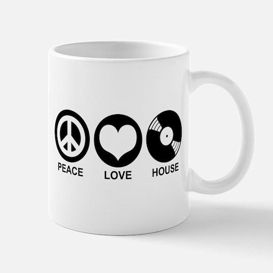 Peace Love House Mug