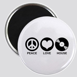 Peace Love House Magnet