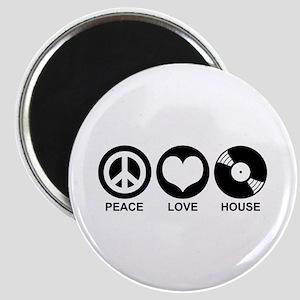 Peace Love House Magnet