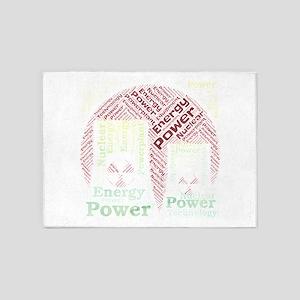 icon simple power energy powerplant 5'x7'Area Rug