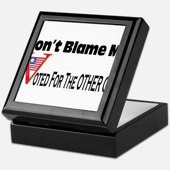 Don't Blame Me Keepsake Box
