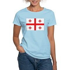 Georgia Flag Women's Pink T-Shirt