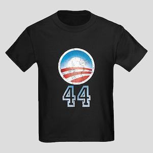 Barack Obama 44 Kids Dark T-Shirt