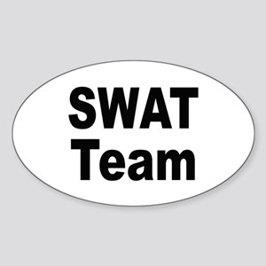 SWAT Team Oval Sticker