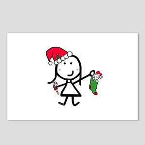 Girl & Christmas Postcards (Package of 8)