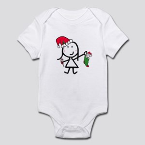 Girl & Christmas Infant Bodysuit