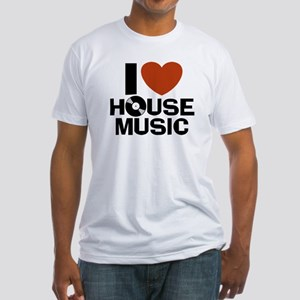 I Love House Music Fitted T-Shirt