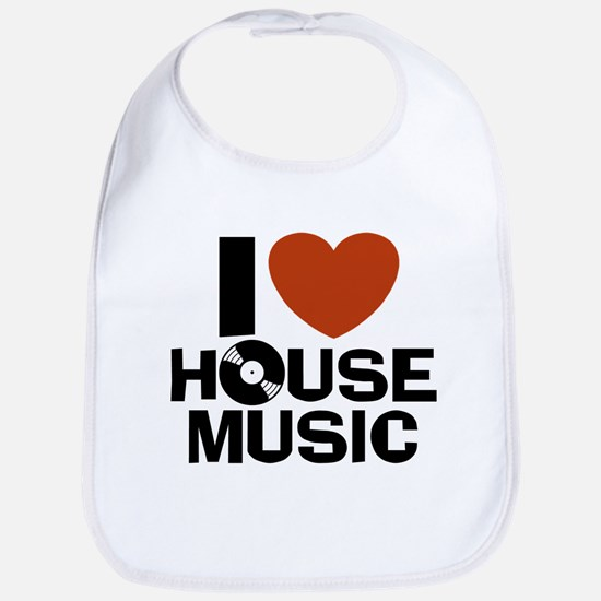 I Love House Music Bib