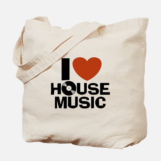 I Love House Music Tote Bag