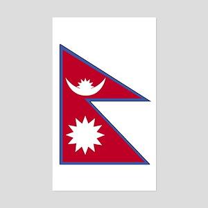 Nepal Rectangle Sticker