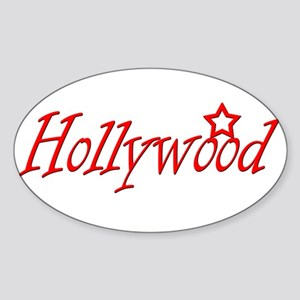 Hollywood Oval Sticker