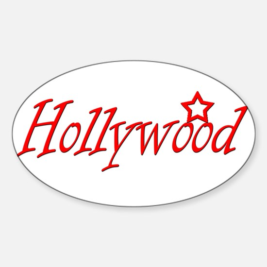 Hollywood Oval Decal