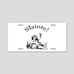 Slainte Irish Wine Toast Aluminum License Plate