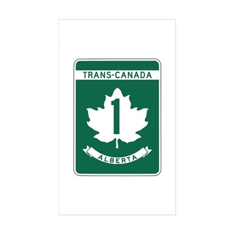 Trans-Canada Highway, Alberta Rectangle Sticker 5