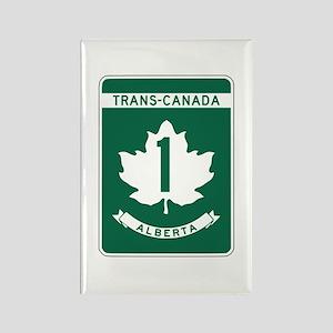Trans-Canada Highway, Alberta Rectangle Magnet