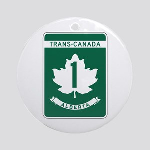 Trans-Canada Highway, Alberta Ornament (Round)