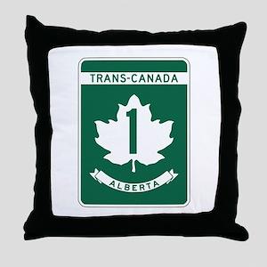 Trans-Canada Highway, Alberta Throw Pillow