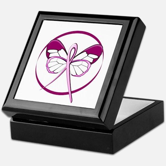 Breast Cancer Butterfly Keepsake Box