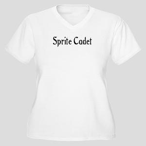 Sprite Cadet Women's Plus Size V-Neck T-Shirt